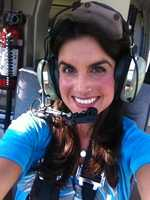 Reporter Marissa Alter selfies from a ride in the WLKY NewsChopper