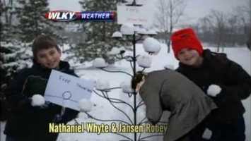 Rick and Vicki pelt Jay with snowballs