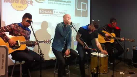 The band the Fray performs as part of a fundraiser for the Children's Miracle Network