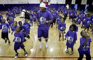 Master P  leads a kids camp