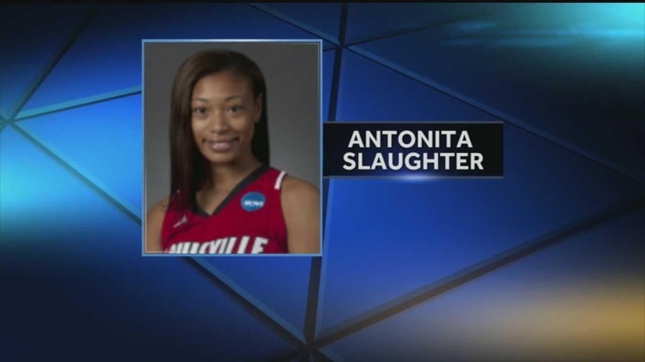 Antonita Slaughter collapses at game