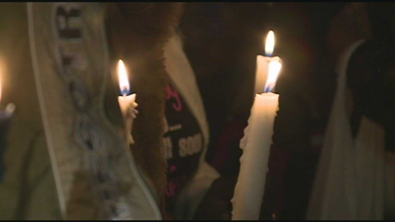 A vigil was held for Andrea Arnold at 23rd and Gaulbert streets on Tuesday night.