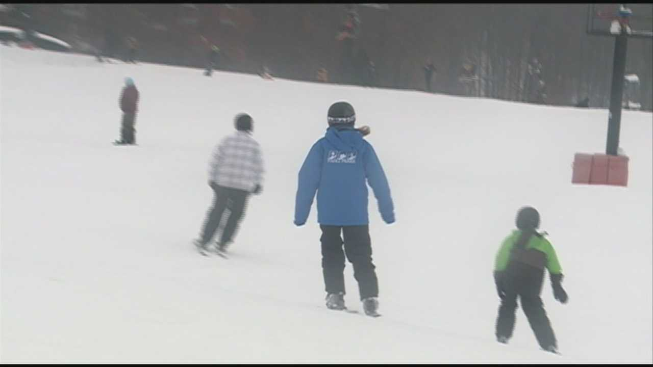 Paoli Peaks re-opened for the season Saturday.