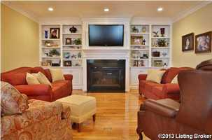Comfortable, classy family room.