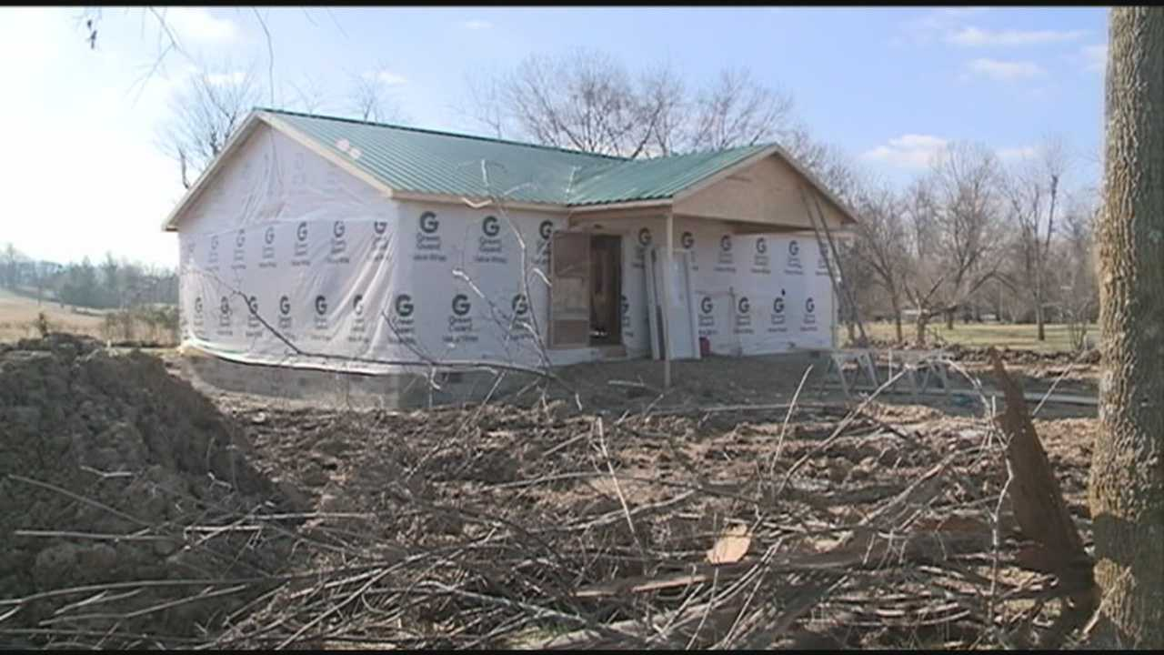 Volunteers work to build home for Nelson County man