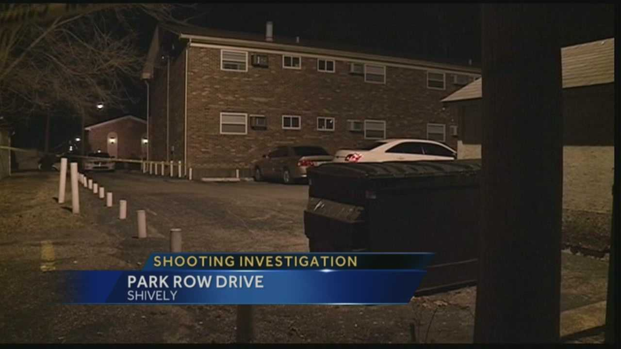 One person is hospitalized after being shot during a robbery in Shively.