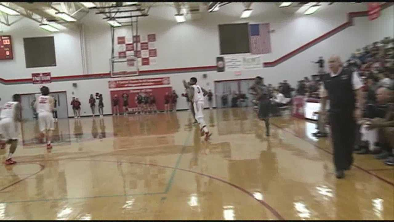 High school basketball rivals clashed on the hardwood Friday night.