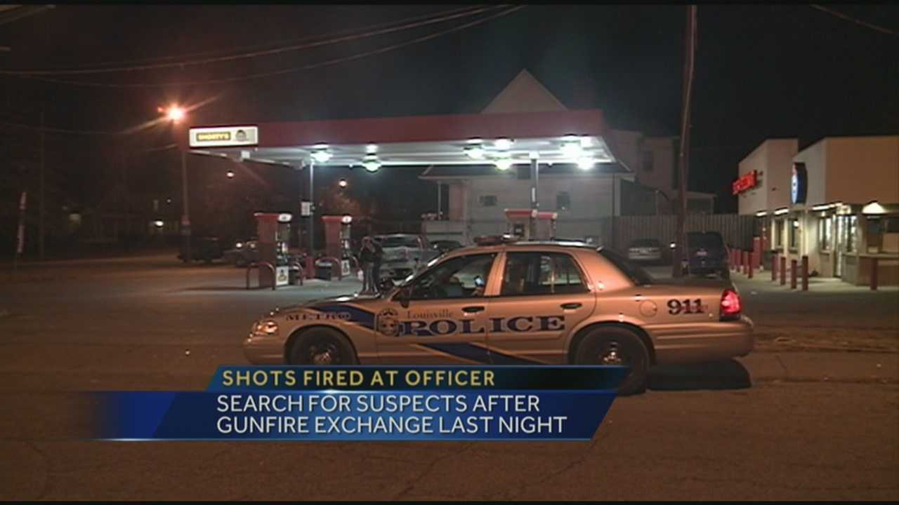 Police search for suspects after shots are fired