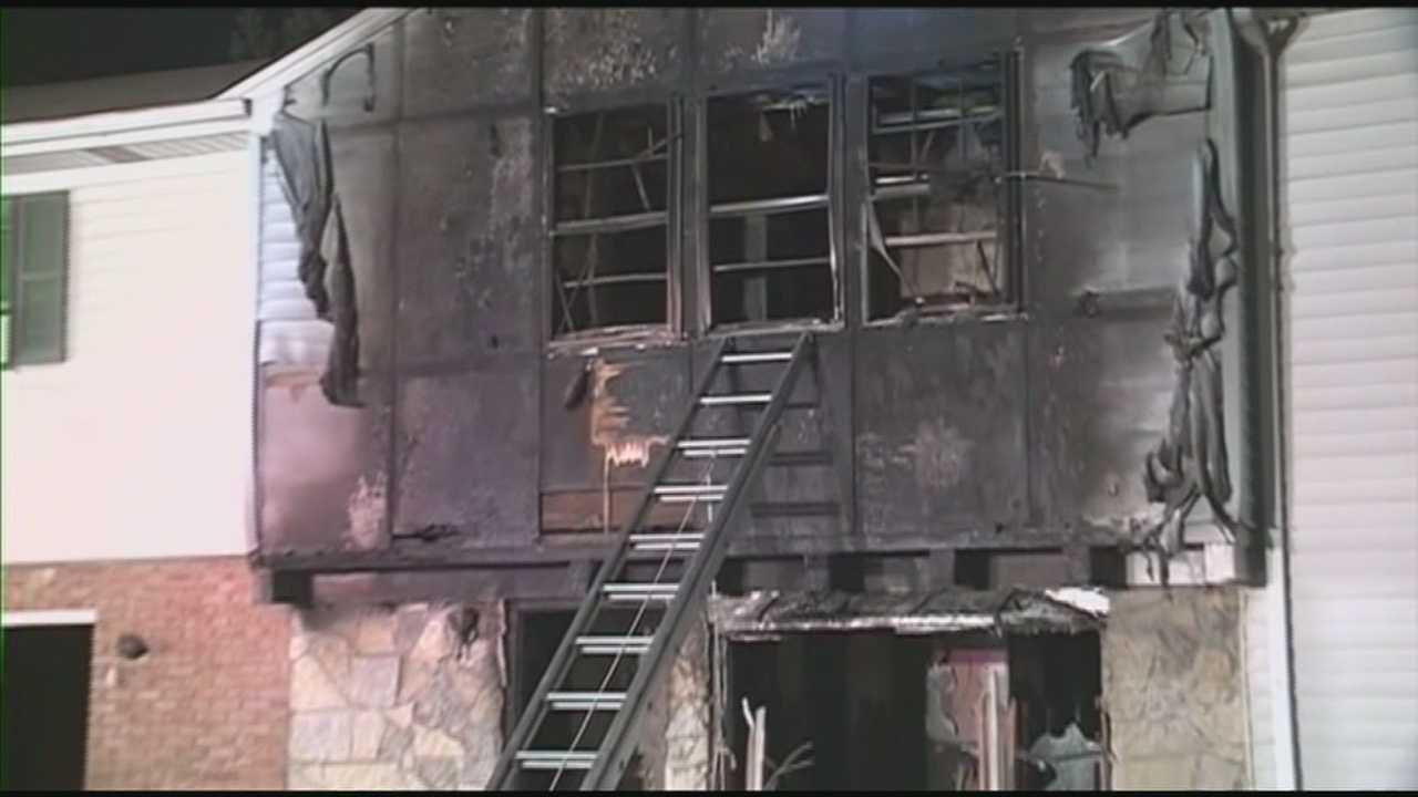 A Clarksville mother credits neighbors for saving her and her children from a house fire.