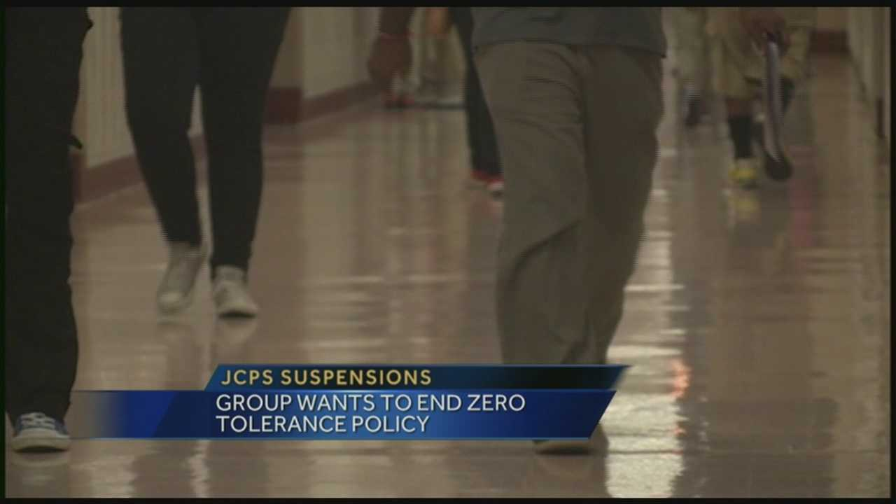 Group wants to end JCPS zero tolerance policy