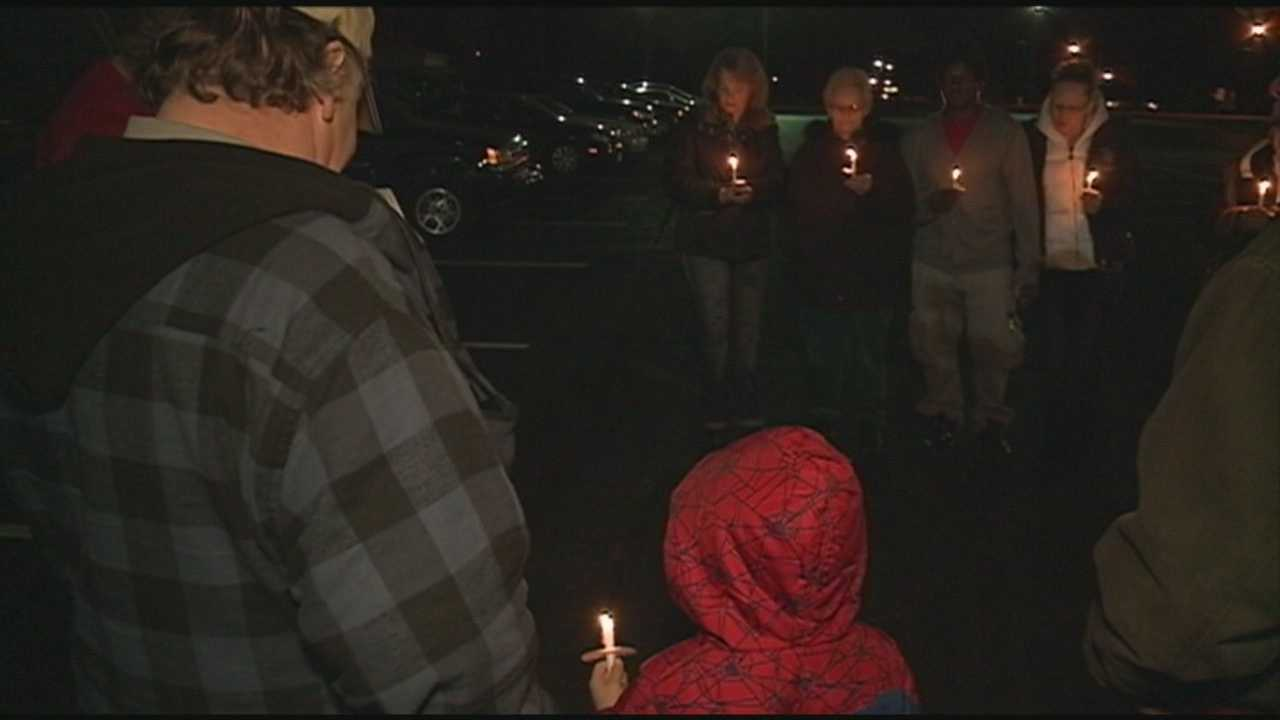 A vigil is held Wednesday night for a woman killed in a crash with a driver who admitted being high on methamphetamine.