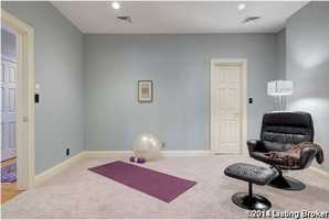 This guest bedroom has been converted into a workout space.