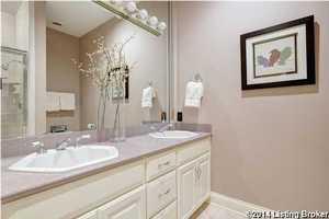 It also has dual vanity sinks.
