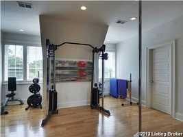 Large home gym.
