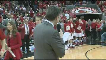 Head coach Rick Pitino and the University of Louisville Cardinals say good bye to Russ Smith, Luke Hancock, Stephan Van Treese and Tim Henderson on Senior Day.