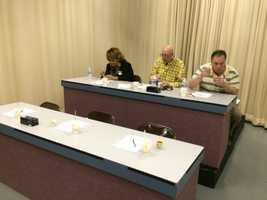 Half of the esteemed Chili Cookoff judges