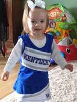 Kentucky's littlest cheerleader
