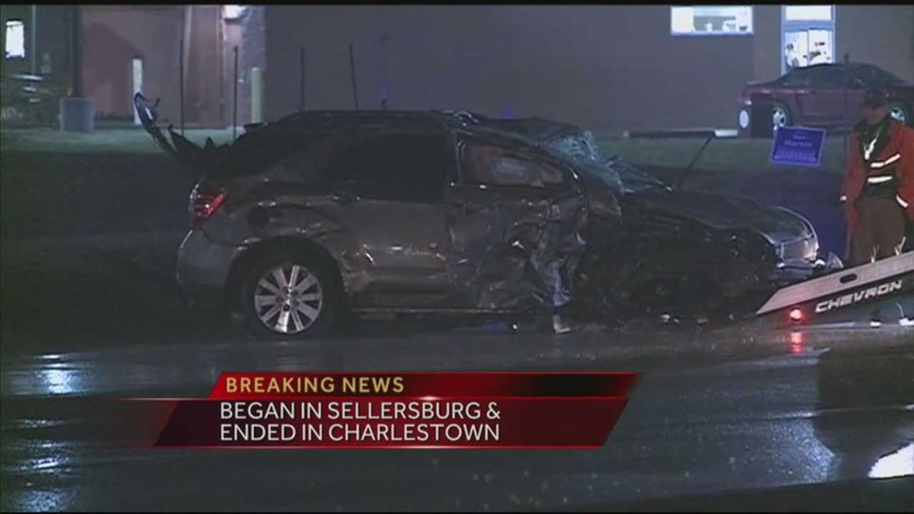 3 injured in police chase crash