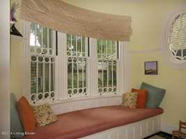 Classic architectural features, like this bay window, are what make this home so special.