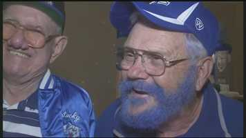 UK fan Frank Barberick says he dyed his beard blue a few years ago and it's been good luck for the team.