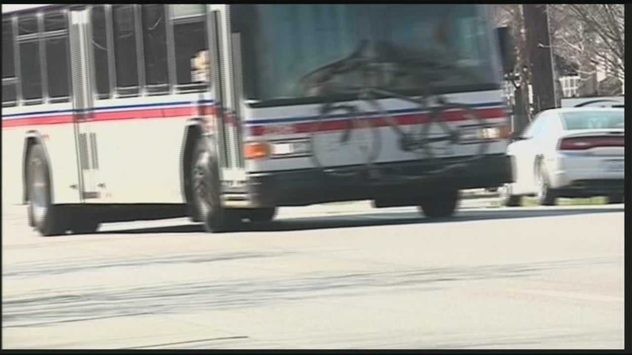 Louisville Metro Council members ride along a TARC route Thursday night amid concerns for public safety.