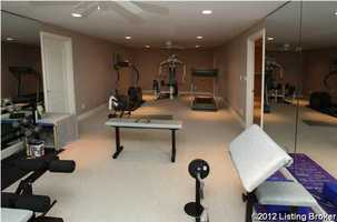 Home gym makes staying toned that much easier.