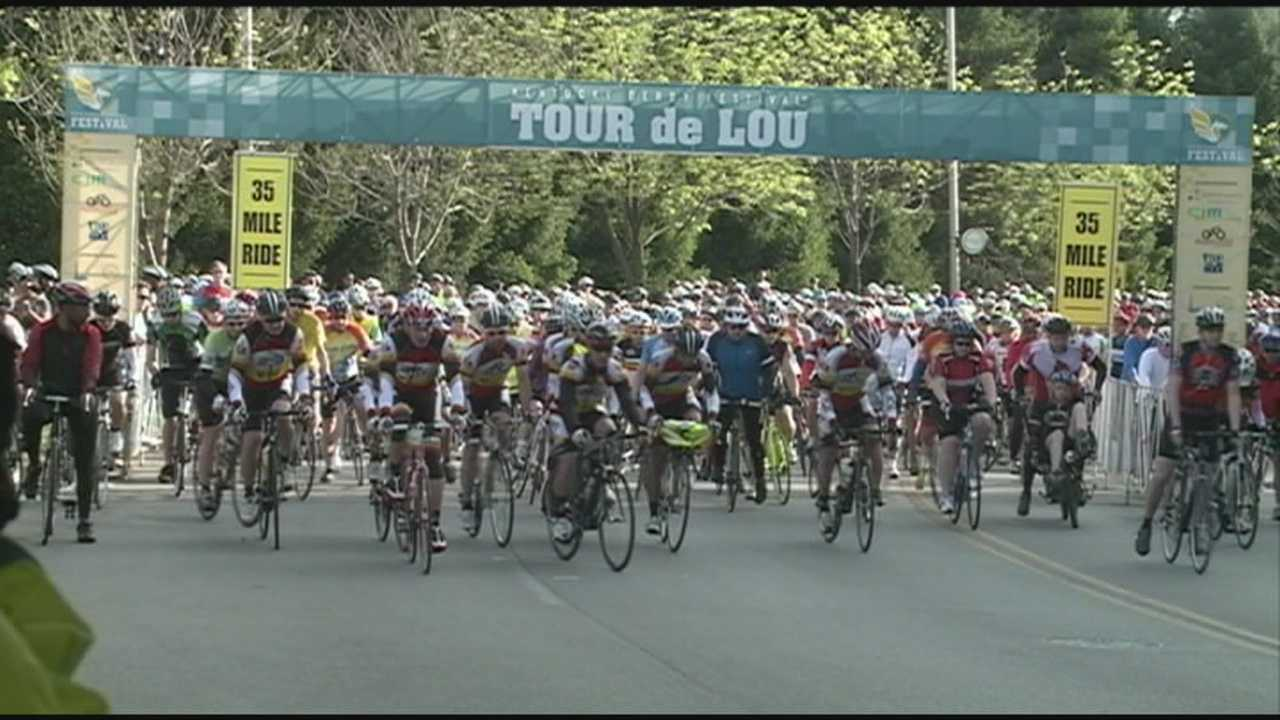Waterfront Park packed for first-ever Tour de Lou