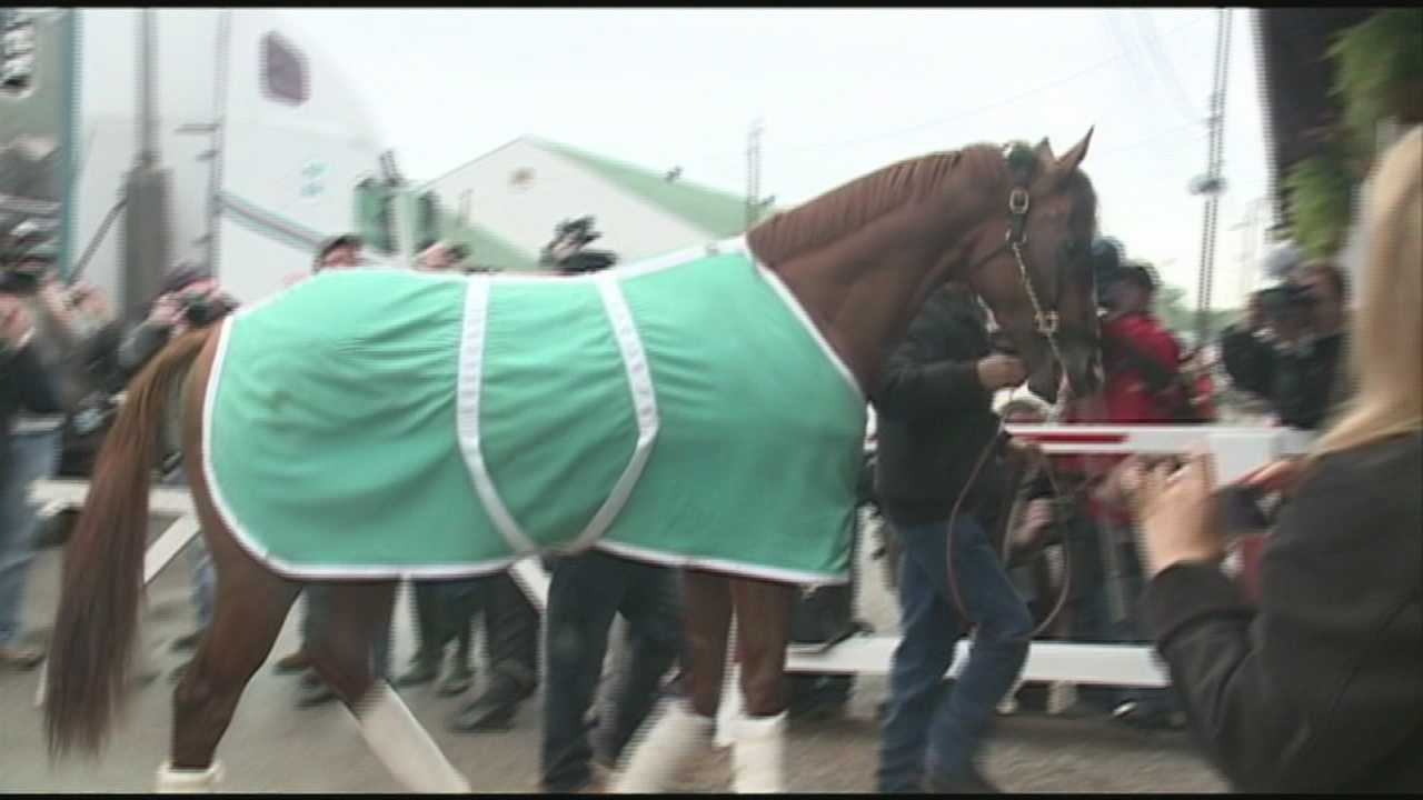 California Chrome, the Santa Anita Derby winner and Kentucky Derby favorite, arrived at Churchill Downs Monday where he'll try to become the first California bred horse to win the Kentucky Derby in over 50 years.