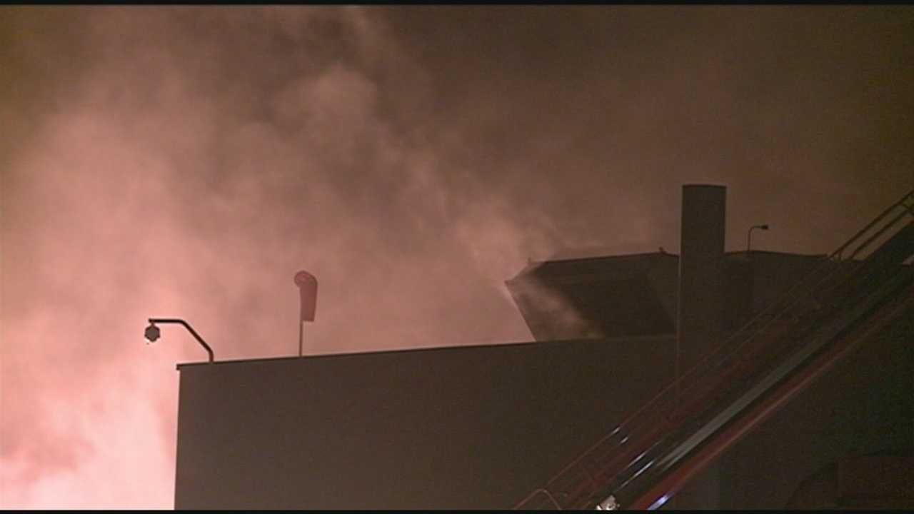 Firefighters are investigating what caused a fire at a local food plant.