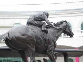 I always have to take a picture of our beloved Barbaro.