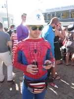 Thank goodness Spiderman is here to help. Note placement of fanny pack.