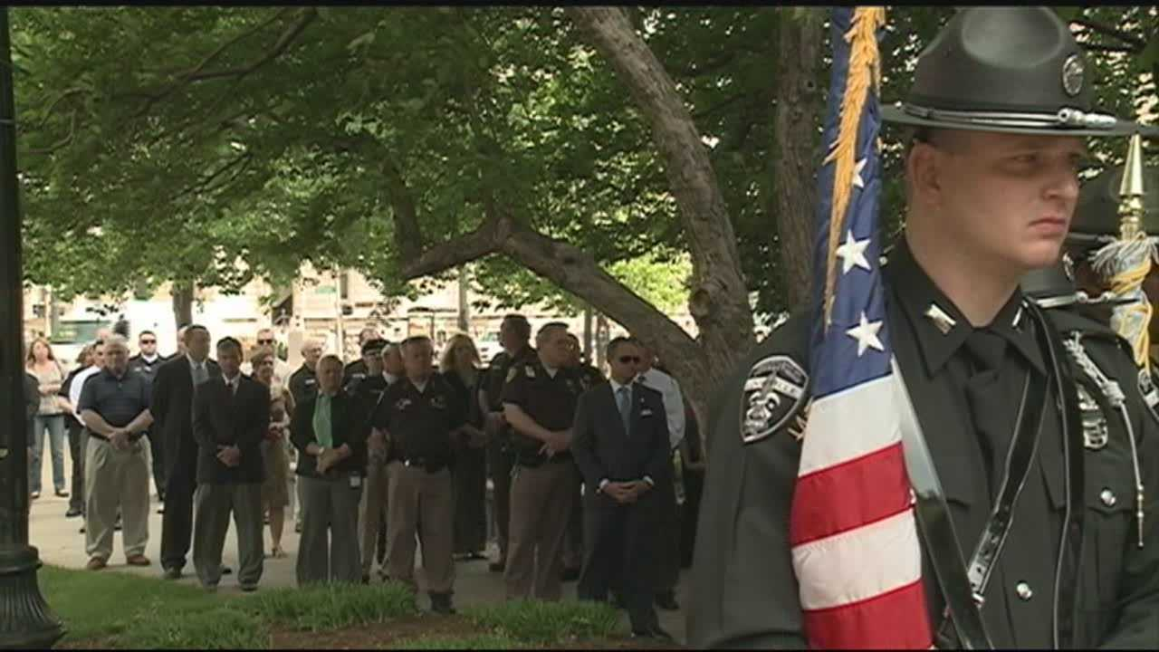 Dozens of police officers from across Jefferson County gather Wednesday to honor those who paid the ultimate price protecting and serving the community.