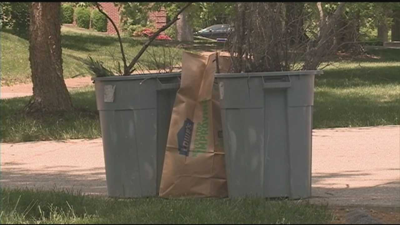 Louisville's Solid Waste Board bans the use of plastic bags to dispose of yard waste.