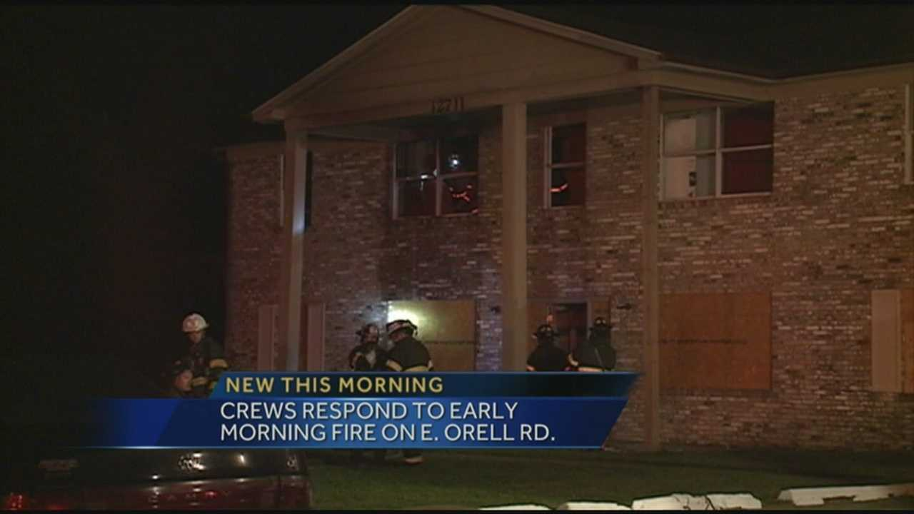 A fire broke out Monday morning at an apartment building near Dixie Highway.