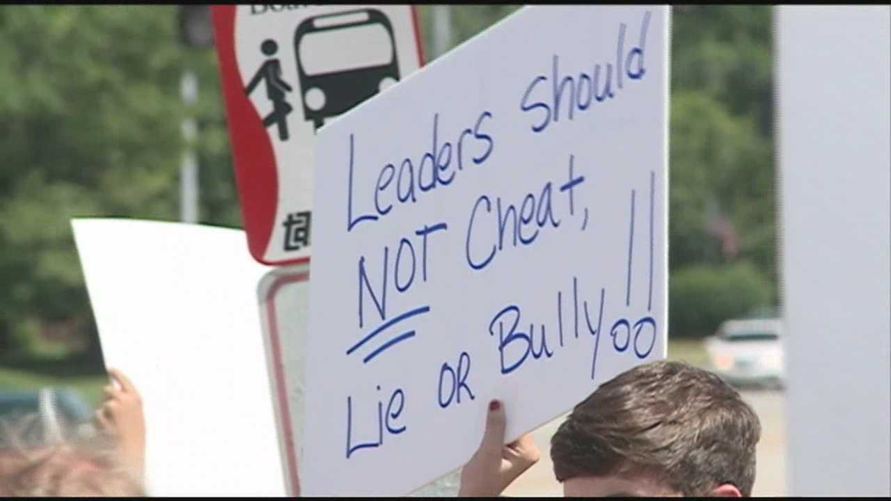 A group of students at Male High School is accusing some school officials of helping them cheat.