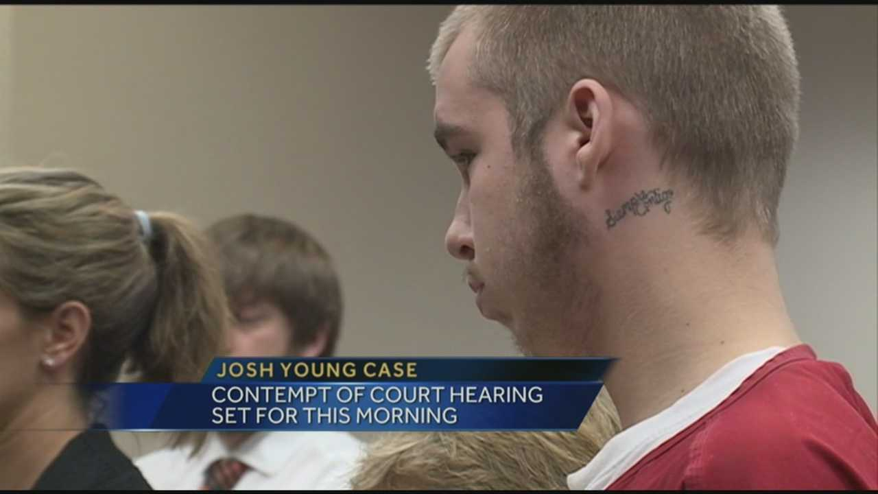 Contempt of court hearing set for Josh Young