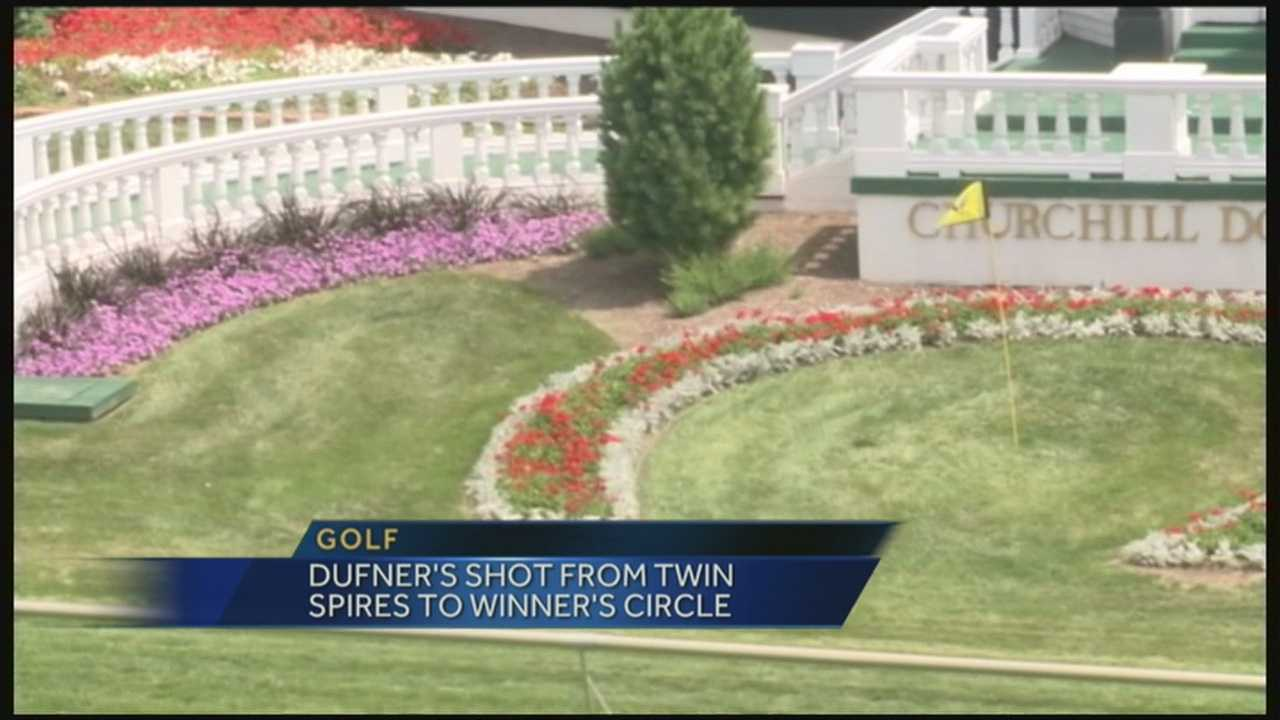 PGA champ attempts Churchill Downs stunt