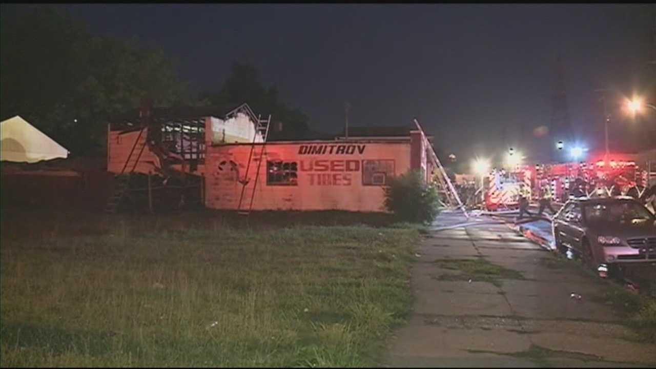 Crews battle fire at west Louisville business