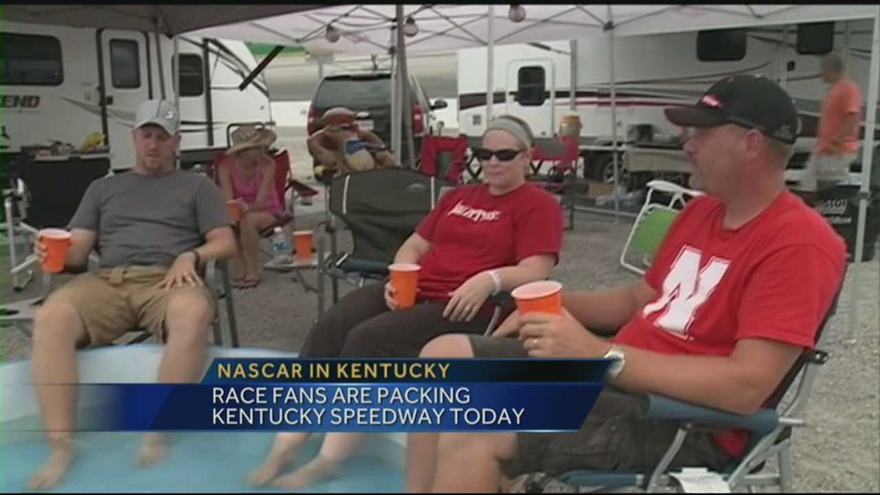 Race fans are filling up Kentucky Speedway for the weekend NASCAR races.