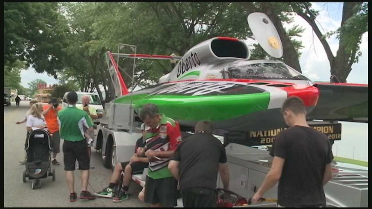 Hydroplanes make their return to the Ohio River for the Madison Regatta.