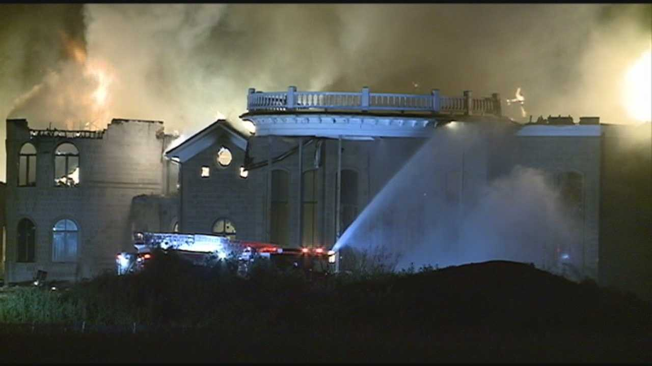 An investigation is underway to find the cause after a mansion caught fire in Prospect.