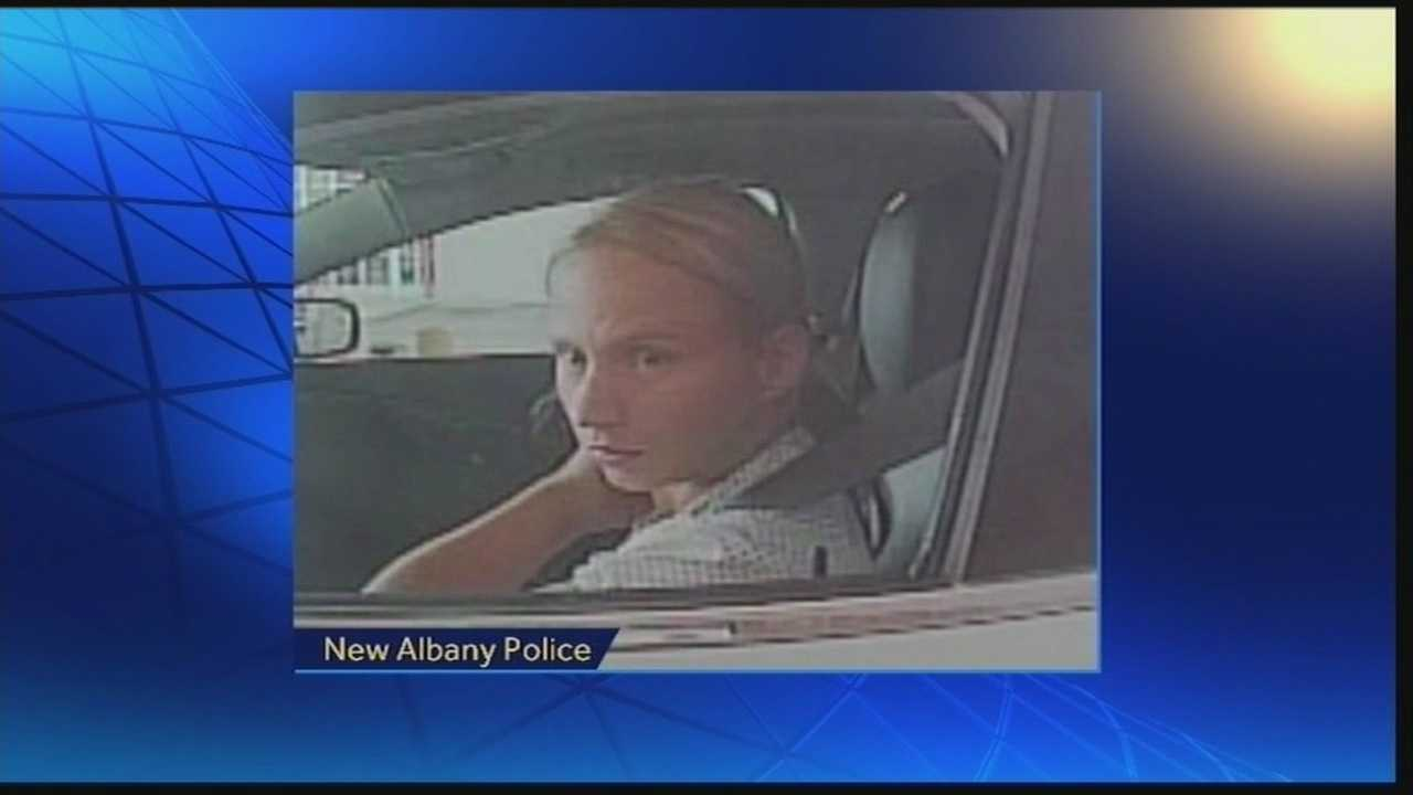 New Albany police are looking for a woman they say she stole and cashed checks.