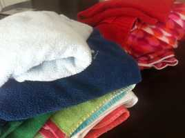 10. Towels populate like rabbits, yet there are never any dry or clean ones. Refer to #9.