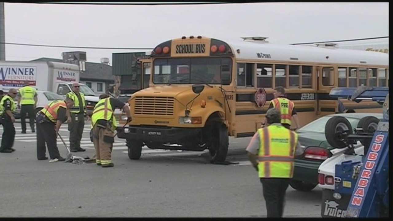Bus crash sends students to hospital