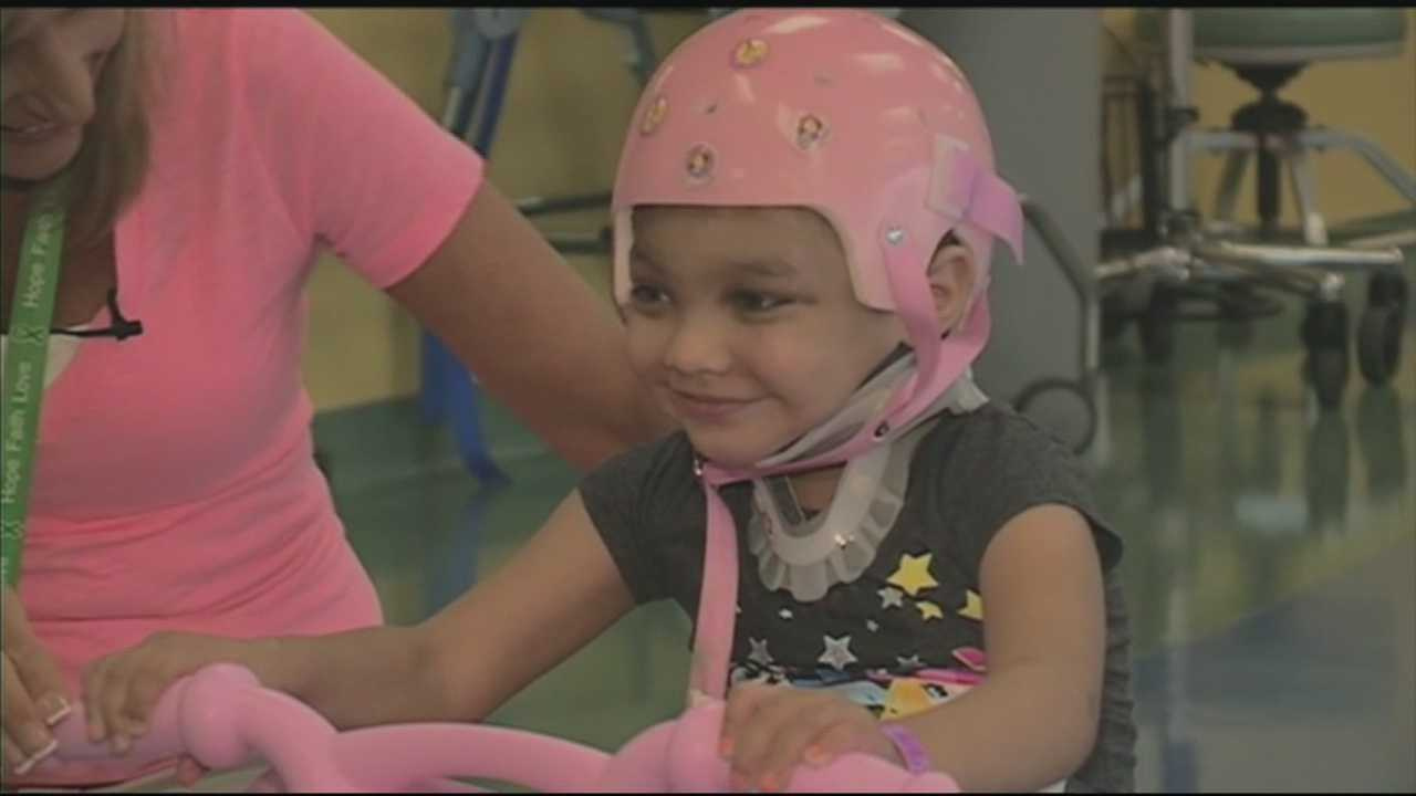 Girl's condition improving after being hit by truck