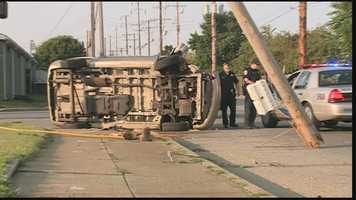 One person was taken to an area hospital as a precaution after a rollover crash.