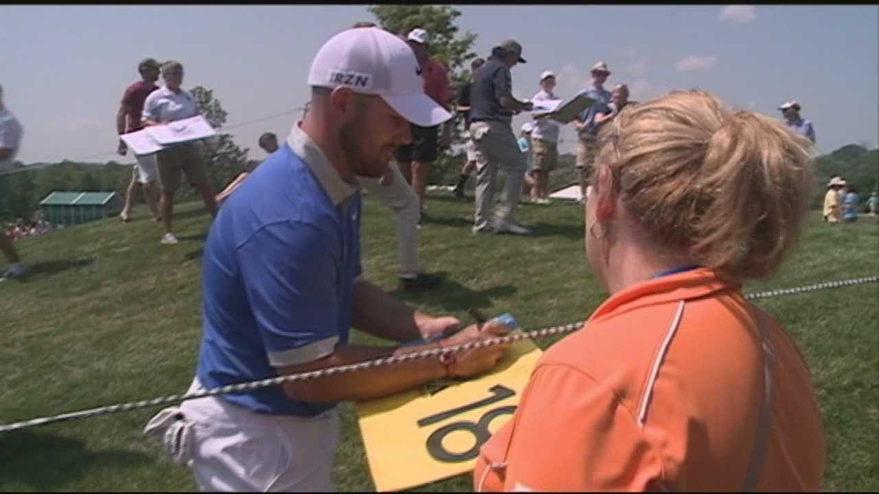 Spectators pack Valhalla for PGA Championship practice rounds
