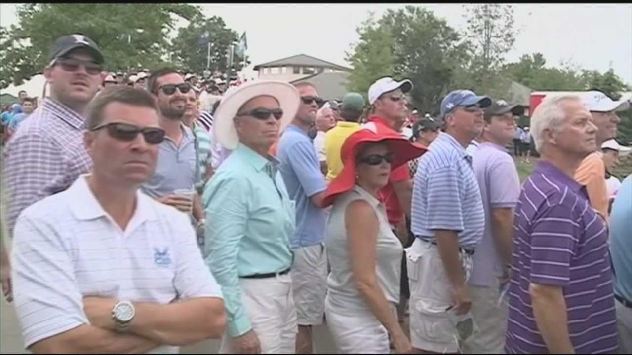 Huge crowd hits Valhalla for PGA Championship first round