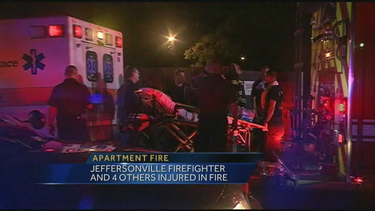 Firefighter, 4 others injured in fire