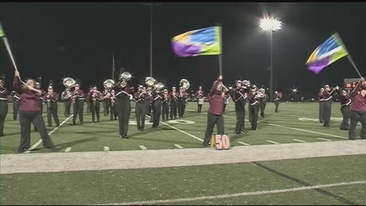 The Campbellsville University band performed for the first time after an accident at the campus left two firefighters injured.